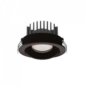 Spot negru din plastic si metal Cyklop Maxlight