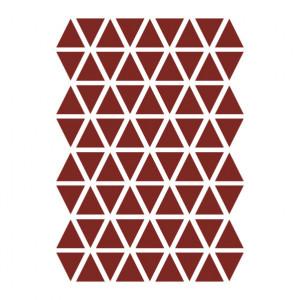 Sticker pentru perete rosu din vinil Mini Triangles Ferm Living
