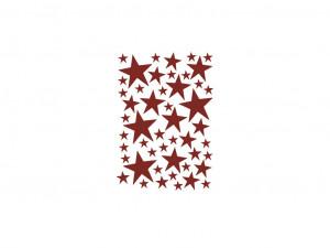 Sticker rosu pentru perete Mini Stars Red Ferm Living