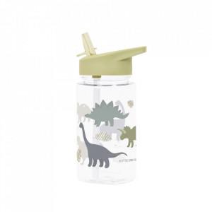 Sticla pentru apa verde din polipropilena 450 ml Dinosaurs A Little Lovely Company