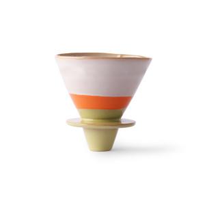 Strecuratoare multicolora din ceramica pentru cafea Saturn HK Living