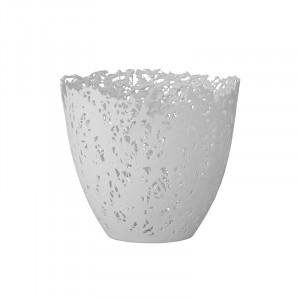 Suport alb din portelan pentru lumanare 12 cm Eudora Bloomingville