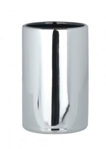 Suport argintiu din ceramica pentru periuta dinti 7x11 cm Polaris Tumbler Wenko