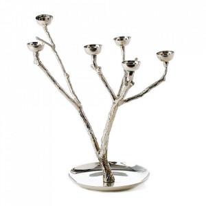 Suport argintiu din metal pentru lumanari 35 cm Twiggy S Pols Potten