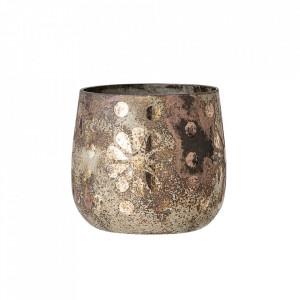 Suport auriu din sticla pentru lumanare 7 cm Hafsa Bloomingville