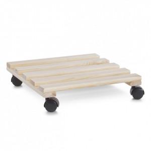 Suport crem din lemn de pin pentru ghiveci Plant Scooter Zeller