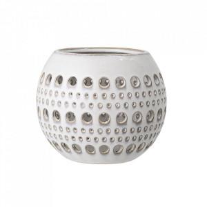 Suport lumanare alb din ceramica 11 cm Ingrid Bloomingville