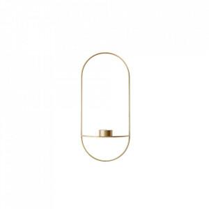 Suport lumanare auriu din alama 44 cm POV Oval Menu