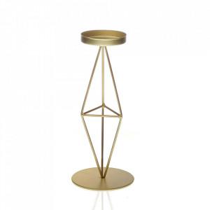 Suport lumanare auriu din metal 22 cm Orta Versa Home
