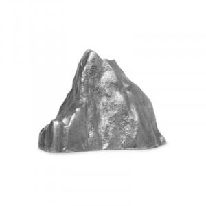 Suport lumanare gri din aluminiu 7 cm Stone Ferm Living