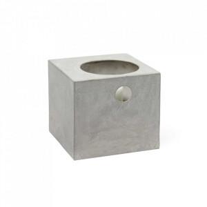 Suport lumanare gri din beton 21 cm Le Petit Photophore Serax