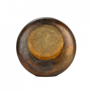 Suport lumanare maro din cupru 14 cm Keiko Lifestyle Home Collection