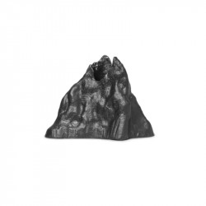 Suport lumanare negru din aluminiu 7 cm Stone Ferm Living