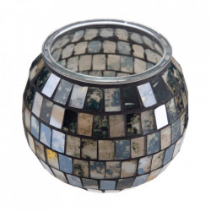 Suport lumanare negru din sticla 9,7 cm Maloa Ixia