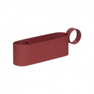 Suport lumanare rosu bordo din metal 4 cm Angelo Hubsch