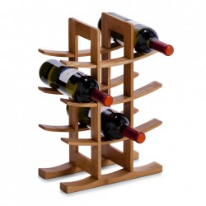 Suport maro din lemn de bambus pentru sticle de vin Wood Zeller