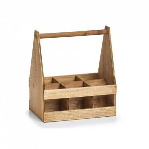 Suport maro din lemn si placaj pentru sticle Drunkard Zeller