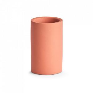 Suport maro teracota din ciment pentru periuta dinti 7,5x12,5 cm Yoyaku Zeller