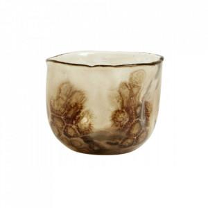 Suport maro/transparent din sticla pentru lumanare 9 cm Morgan Nordal