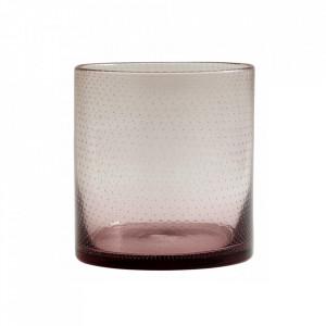 Suport mov din sticla pentru lumanare 16 cm Bubble Nordal