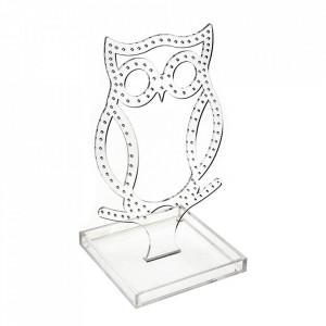 Suport pentru accesorii transparent din plastic acrilic 22 cm Owl Versa Home