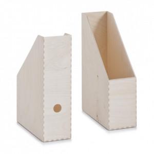 Suport pentru reviste din lemn de mesteacan Birch Box Zeller