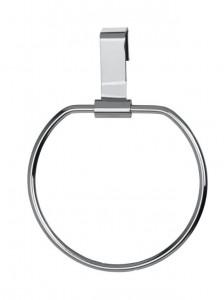 Suport prosop argintiu din metal si plastic pentru usa Door Towel Ring Wenko
