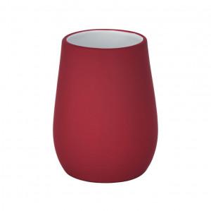 Suport rosu din ceramica pentru periuta dinti 8,5x11 cm Sydney Wenko