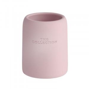 Suport roz din polirasina pentru periuta dinti 8x10 cm Collection Wenko
