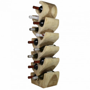 Suport sticle maro din lemn de suar Helen HSM Collection