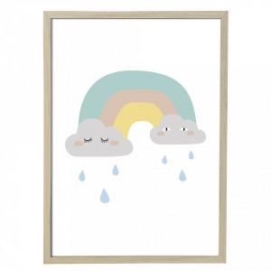 Tablou camera copiilor 75x55 cm Rainbow Bloomingville Mini