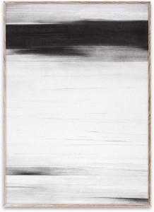 Tablou cu rama din lemn de stejar 50x70 cm Charcoal 02 Paper Collective
