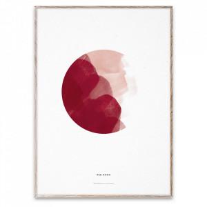 Tablou cu rama din lemn de stejar 50x70 cm Red Moon Paper Collective