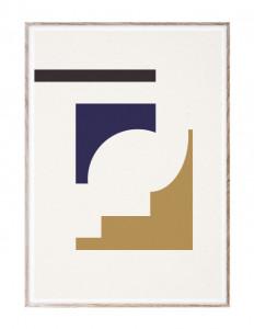Tablou cu rama din lemn de stejar 50x70 cm Shapes of Colour 02 Paper Collective