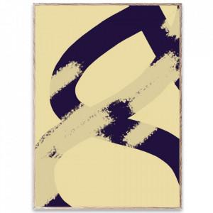 Tablou cu rama din lemn de stejar Ink Grain 02 Paper Collective