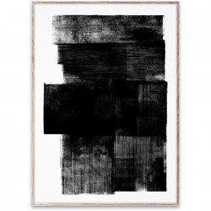 Tablou cu rama stejar Midnight 01 Paper Collective