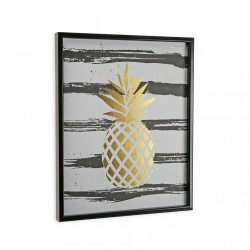 Tablou multicolor din canvas 40x50 cm Gold Pineapple Versa Home