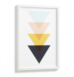 Tablou multicolor din MDF si melamina 43x63 cm Banks Kave Home