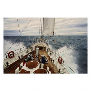 Tablou multicolor din sticla 80x120 cm Yacht Signal Meble