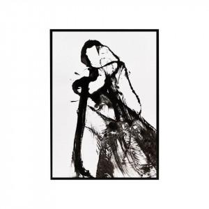 Tablou negru/alb din MDF si sticla 32x45 Opera House Doctor