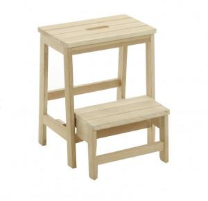 Taburet maro din lemn de stejar pentru picioare 40x50 cm Nell Kave Home