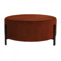 Taburet rotund aramiu din poliester si placaj 80 cm Easton LifeStyle Home Collection