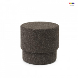 Taburet rotund din textil 50 cm Silo Coffee Grounds Normann Copenhagen