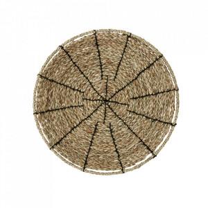 Tava decorativa rotunda maro din iarba de mare 45 cm Alice Madam Stoltz