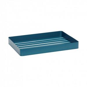 Tava dreptunghiulara albastra din metal 45x32x5 cm Hubsch