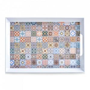 Tava dreptunghiulara multicolora din melamina 35x50 cm Mosaic Zeller