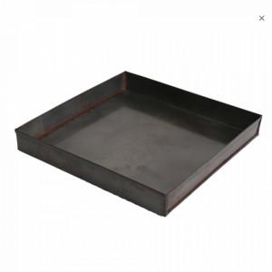 Tava patrata argintie din fier 26x26 cm Industrial Raw Materials