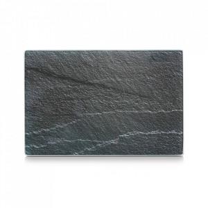 Tocator dreptunghiular gri antracit din sticla 20x30 cm Slate Zeller