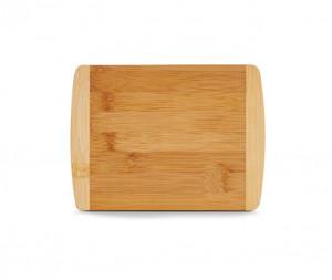 Tocator dreptunghiular maro din lemn 15x20 cm Two Colours Bamboo Zeller