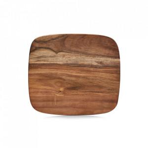 Tocator dreptunghiular maro din lemn 25x28 cm Karina Zeller